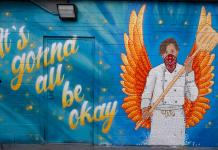 A mural to bakers covers the back wall of a shop along Market Street as businesses creak back to life with the easing of restrictions to check the spread of the new coronavirus Wednesday, May 13, 2020, in Denver.