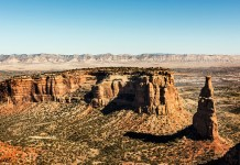 Scenery at Colorado National Monument, USA - Original image from Carol M. Highsmith's America, Library of Congress collection. Digitally enhanced by rawpixel