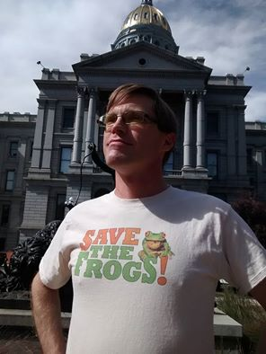 Gary Swing, Boiling Frog Party candidate for U.S. Senate. Photo by Frank Atwood