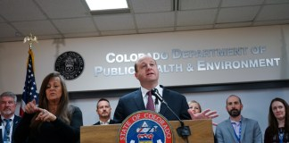 Gov. Jared Polis announced Colorado's first two cases of coronavirus in Colorado on March 5, 2020. As of Friday, March 27, tyhe state was up to more than 1,700 cases with 31 deaths. (Photo by John Herrick)