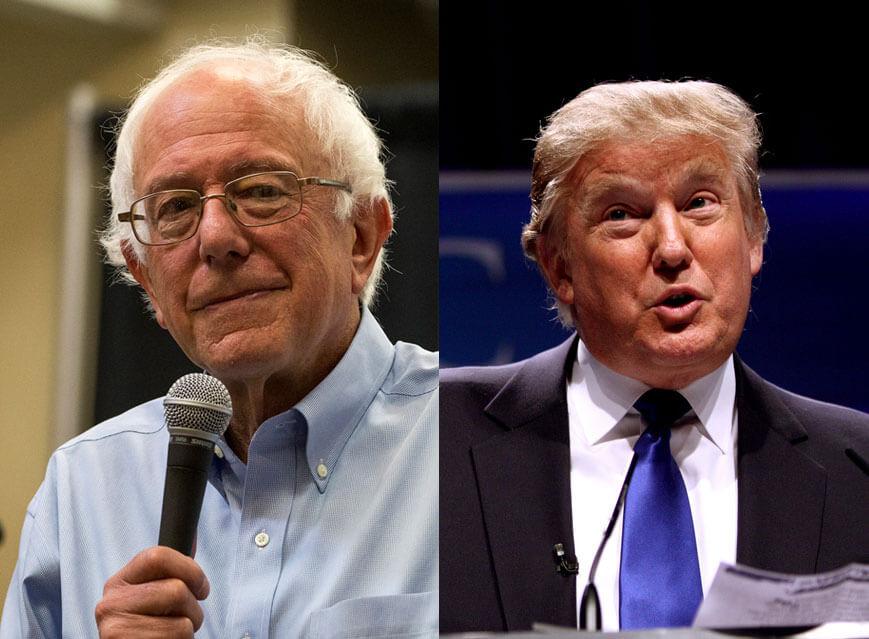 Donald Trump and Bernie Sanders win New Hampshire.