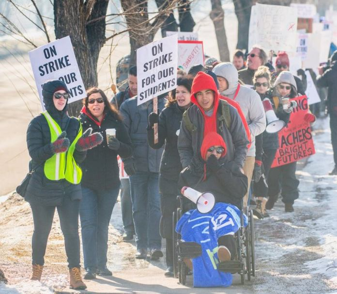 Denver teacher Strike. State Capitol building on Monday, Feb. 11, 2019. The Colorado Independent