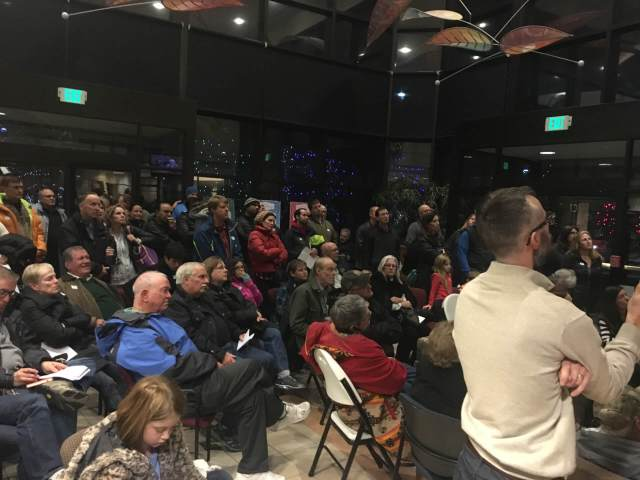 Broomfield residents filled an overflow lobby at a City Council meeting, Dec. 6, 2016