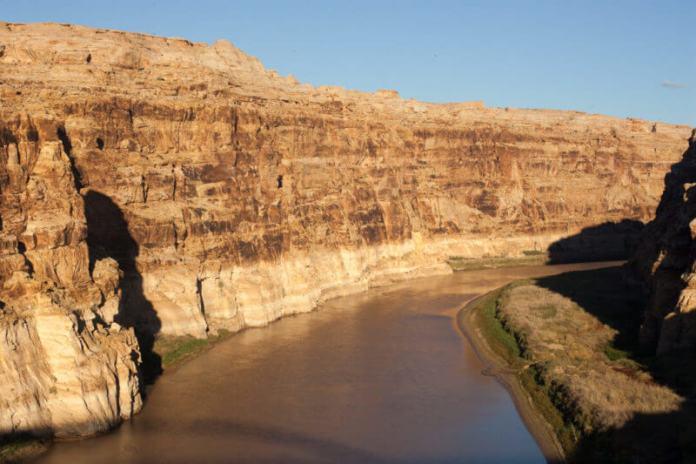 The Colorado River near Hite, Utah on Oct. 20, 2018. (Photo by John Herrick)