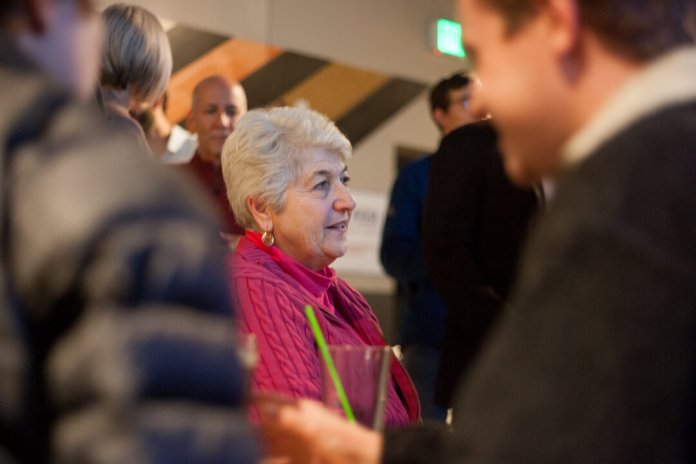 Colorado Sen. Lois Court gathers among supporters of Prop CC, which voters rejected on Tuesday, Nov. 5, 2019. A disappointed Court said strong turnout was critical to the measure's passage and too many voters stayed home.