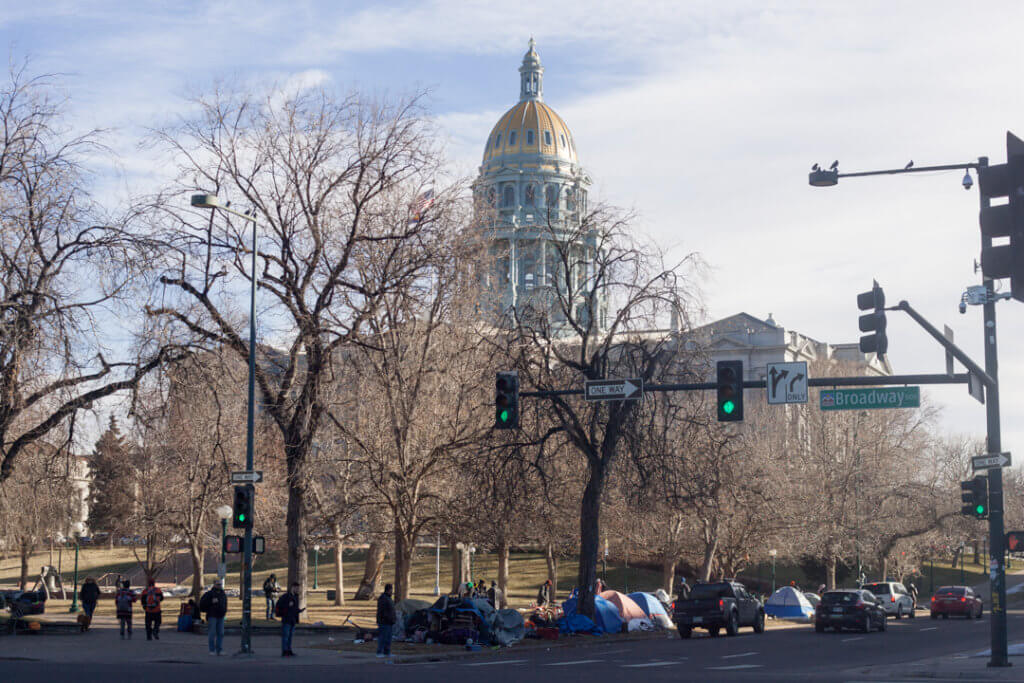 The state Capitol on Jan. 8, 2020, the opening day of the session. (Photo by John Herrick)