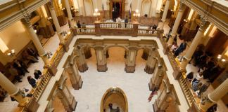 Inside the Colorado Capitol. (Photo by John Herrick, Colorado Independent)