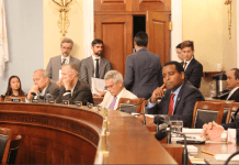 "Congressman Joe Neguse (center, right) is pushing the ""Colorado Outdoor Recreation and Economy (CORE) Act,"" which aims to preserve about 400,000 acres of public lands in the state. The bill cleared the House Natural Resources committee by a vote of 23-15 along party lines."