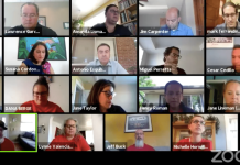 Denver teachers' union and administrators negotiate potential pay freezes and furloughs during virtual bargaining on Thursday, June 18, 2020. Screenshot