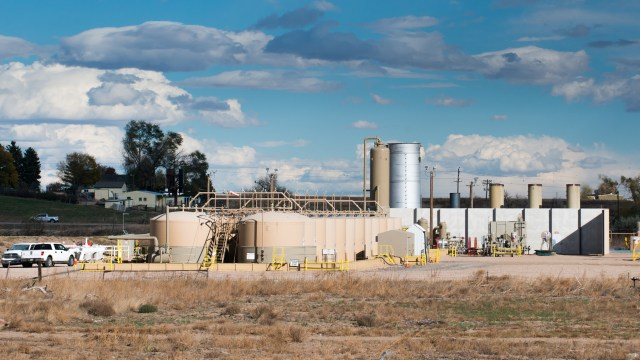 An oil and gas facility in Weld County, Colorado, similar to what residents of Triple Creek will soon see. (Ted Wood/The Story Group)