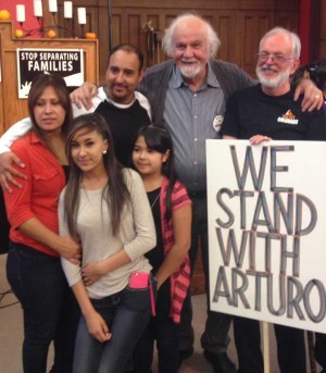 Garcia and his family with supporters. — TC