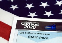 United States 2020 census form. Image via Getty Images.