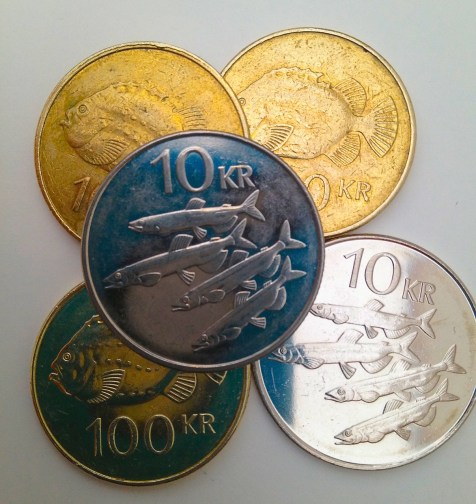Iceland's economy is primarily based on fishing, so it's no surprise the country's coins feature some of the most commercially important species.