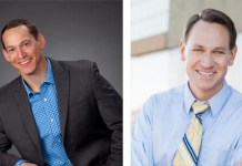Chris Hadsall, left and Chris Kennedy, right, are vying for House District 23.
