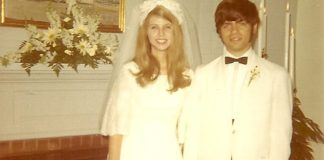 We were married on June 13, 1970, in Susie's parents' living room. We were 21 and too young to know any better, but one look at Susie's smile is all the evidence you need to understand why the marriage lasted a lifetime.