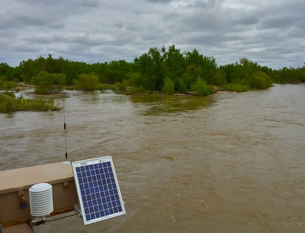 Solar-powered instruments measure the South Platte River's flows near Julesberg, just before it flows out of the state and into Nebraska. Consultants working on the Colorado water plan say the river could yield some extra supplies during wet years, and they're looking at ways to tap into that potential.
