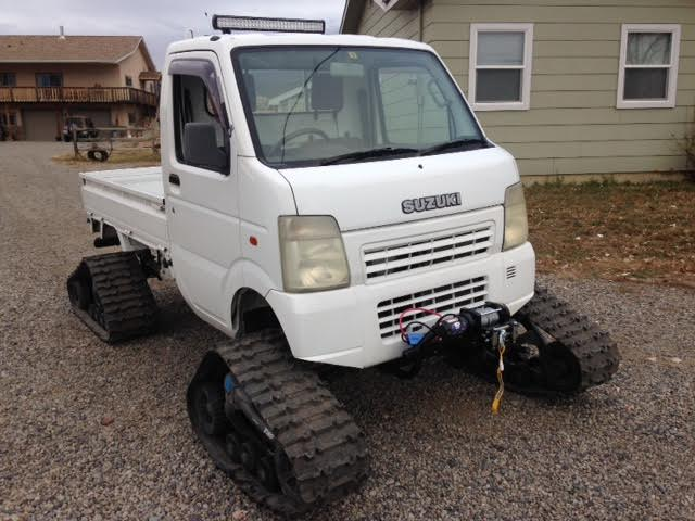 trucks on tracks snow bound suzuki camoplast on carry star rh coloradominitruck com Suzuki Mini Truck Street-Legal Suzuki Mini Truck for Hunting