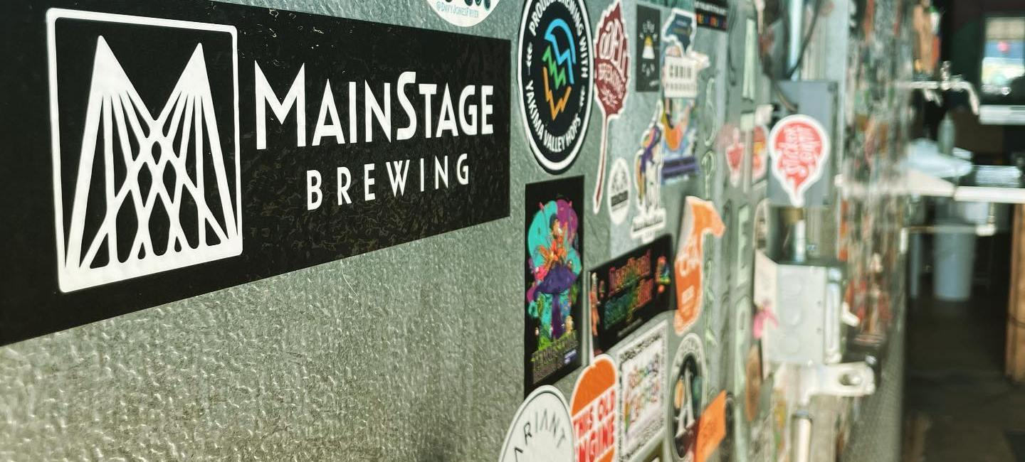 MainStage Brewing wall
