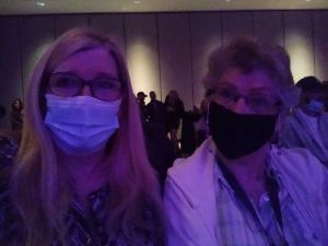 Annette and Barb masks