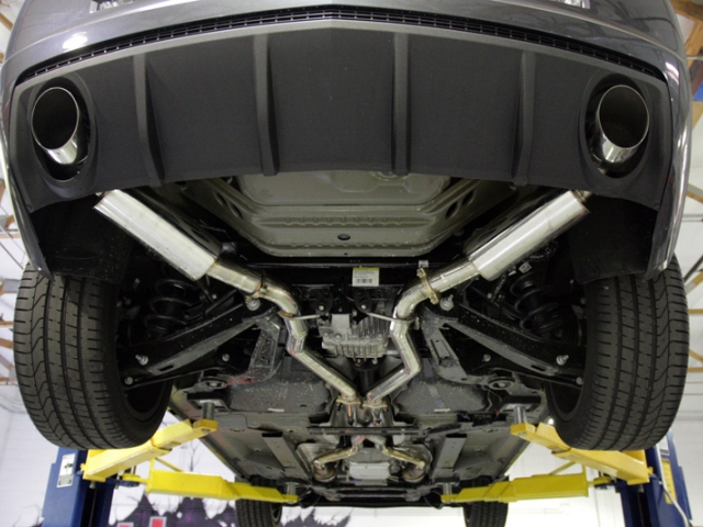 agency power cat back exhaust w x pipe