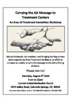 A10 treatment workshop flyer 2018