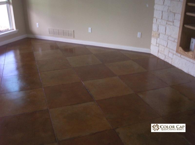 concrete interior floor stain. Black Bedroom Furniture Sets. Home Design Ideas