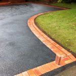 Block paved tarmac edge