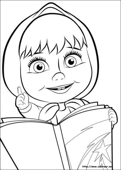 Dibujos para colorear de Masha y el oso