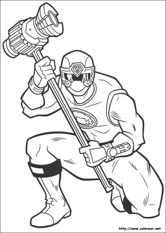 coloring pages of power ranger jungle fury