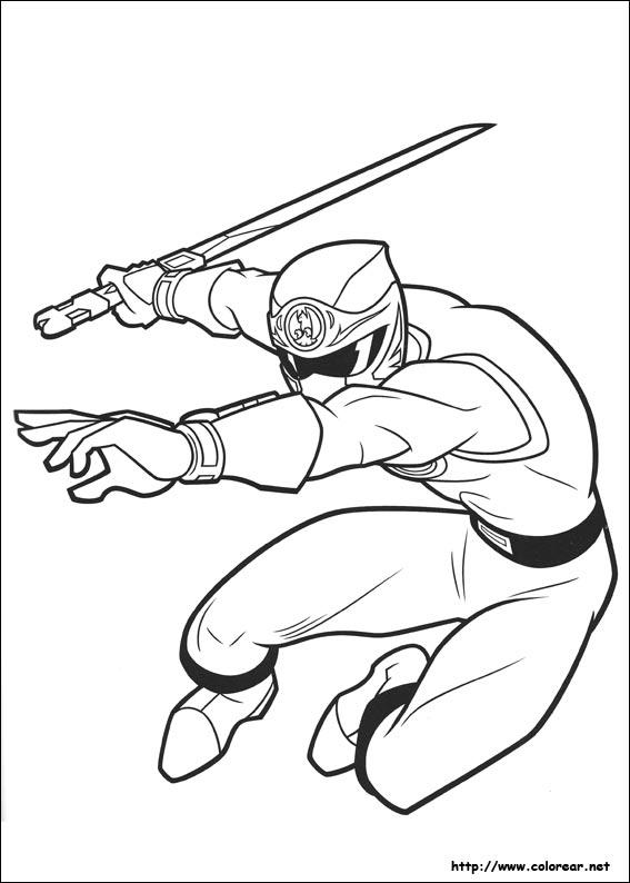 dibujos para colorear de power rangers