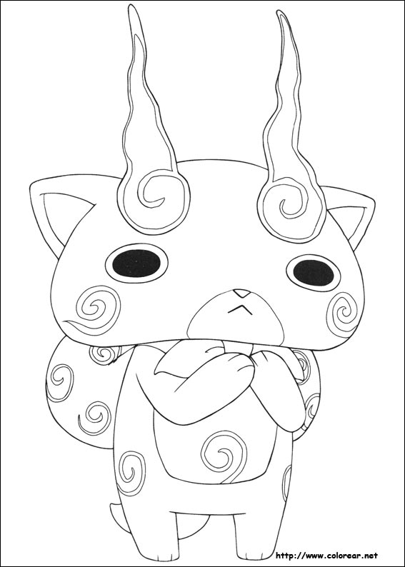 Gambar Komajiro From Yo Kai Watch Coloring Pages Jpeg Png Gif - Best ...
