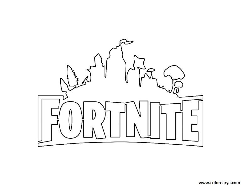 Fortnite Battle Dibujos De Armas De Fortnite Para Colorear On Log Wall