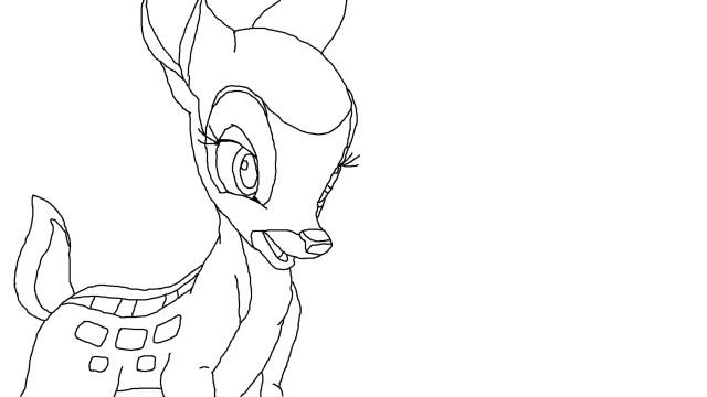 Coloriage Féline Bambi à imprimer