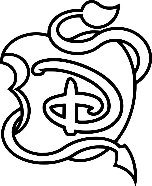 Coloriage logo Descendants à imprimer