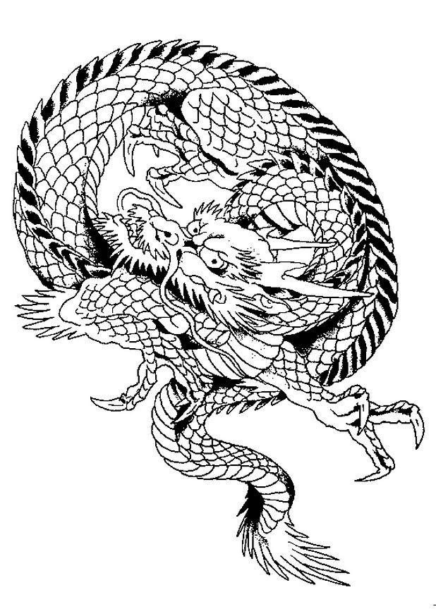 Coloriage Dragon Chinois Maternelle Dessin Gratuit A Imprimer