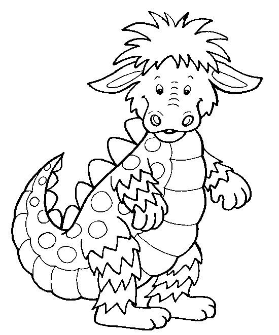 coloriage petit dragon mignon dessin