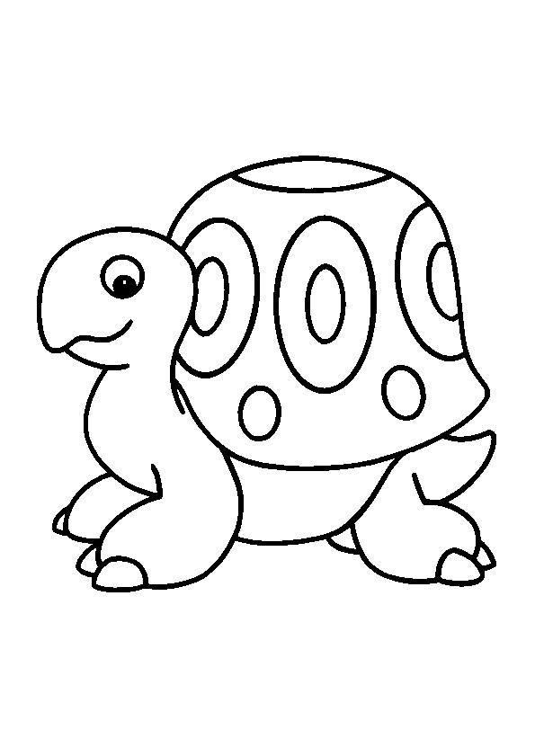coloriage petite tortue noir et blanc