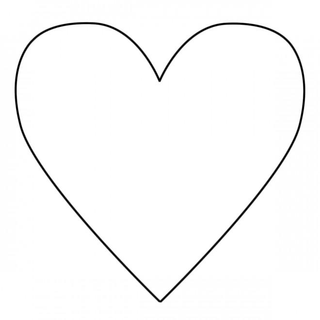 Coloriage Coeur Facile A Colorier Dessin Gratuit A Imprimer