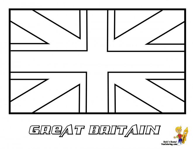 Coloriage Drapeau Grande Bretagne Dessin Gratuit A Imprimer