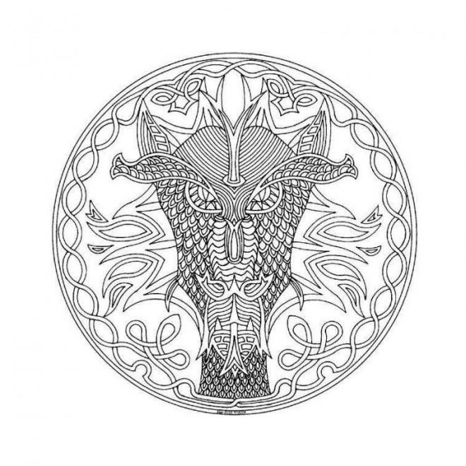 Coloriage Mandala Dragon Difficile Dessin Gratuit A Imprimer