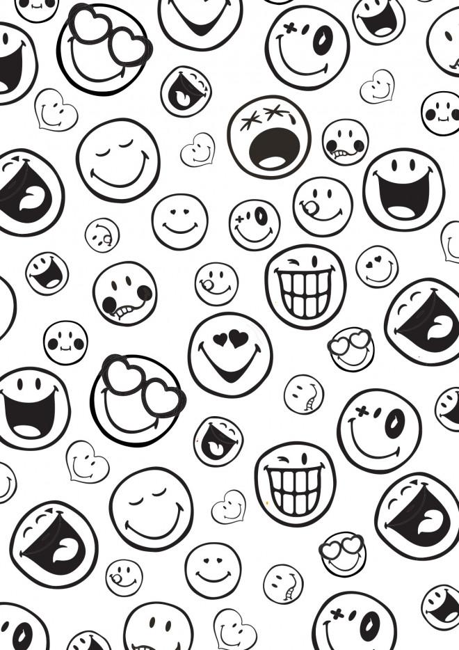 Coloriage Emoji En Couleur Dessin Gratuit A Imprimer