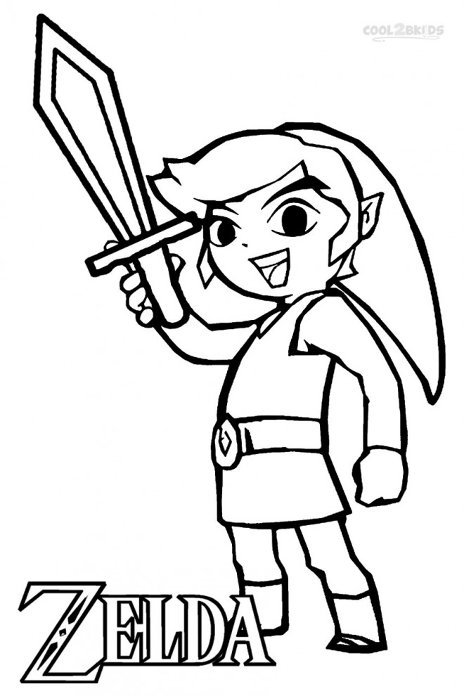 Coloriage Zelda Link Facile Dessin Gratuit A Imprimer