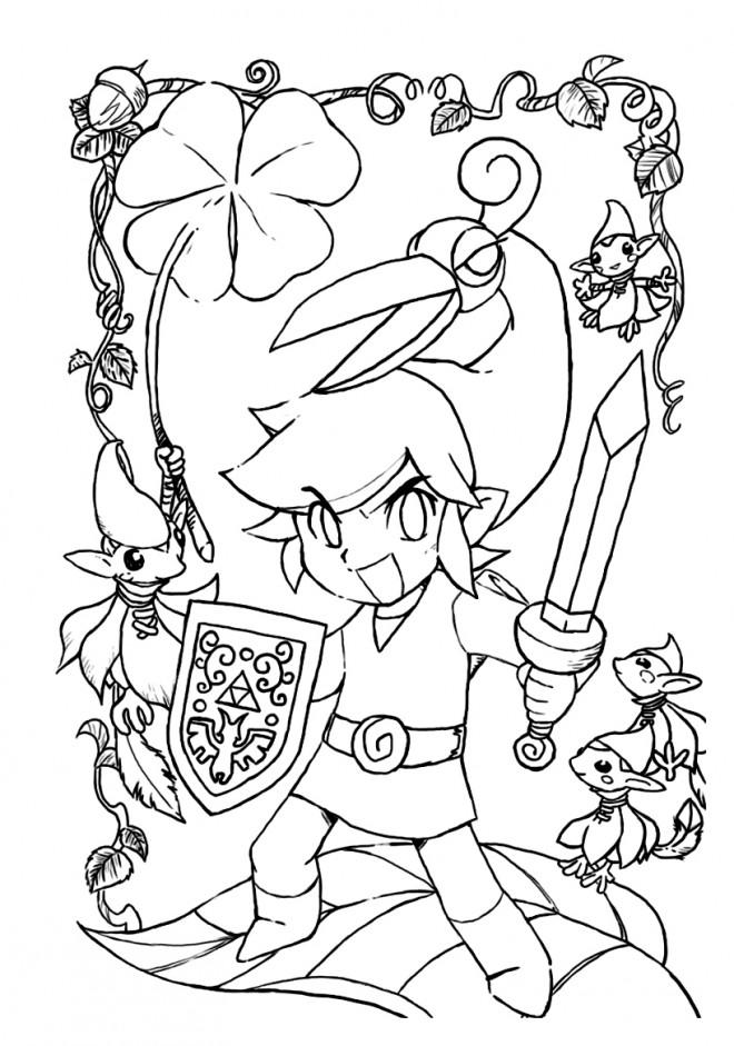 Coloriage Zelda Personnage Dessin Gratuit Imprimer