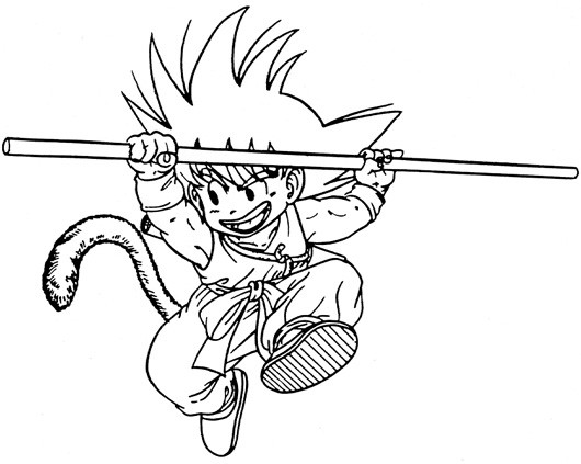 Coloriage Dragon Ball Z Goku Dessin Gratuit A Imprimer