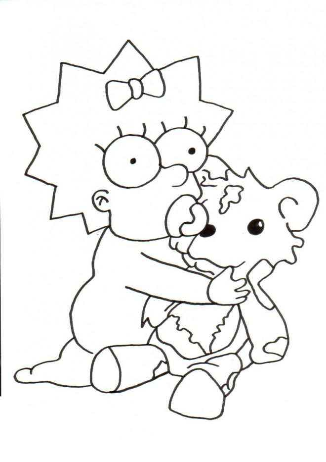 Coloriage Simpson Bb Joue Dessin Gratuit Imprimer