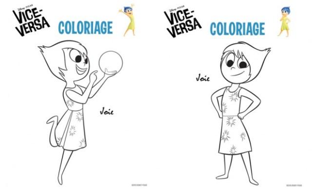 Coloriage Vice Versa les aventures de Joie dessin gratuit à imprimer