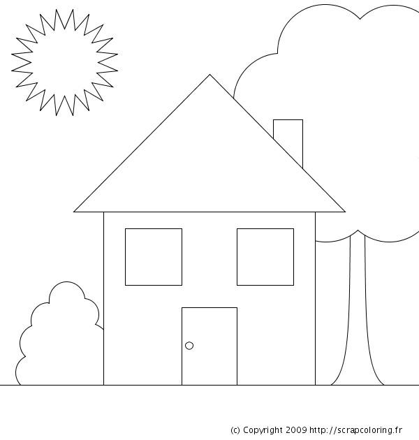 Coloriage Maison Simple A Colorier Dessin Gratuit A Imprimer