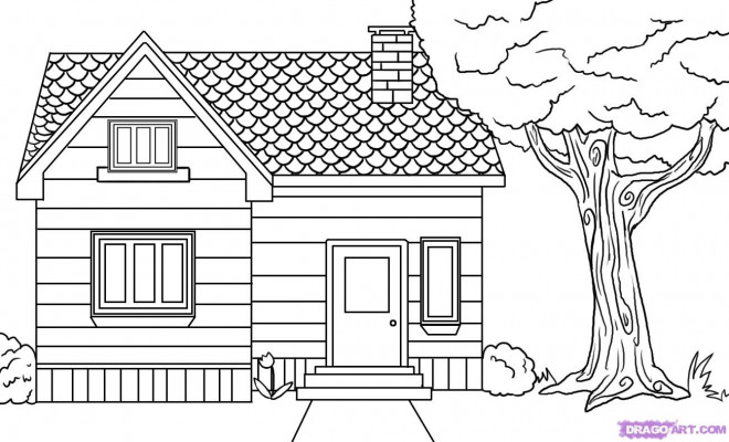 Coloriage Maison Simple Gratuit A Imprimer