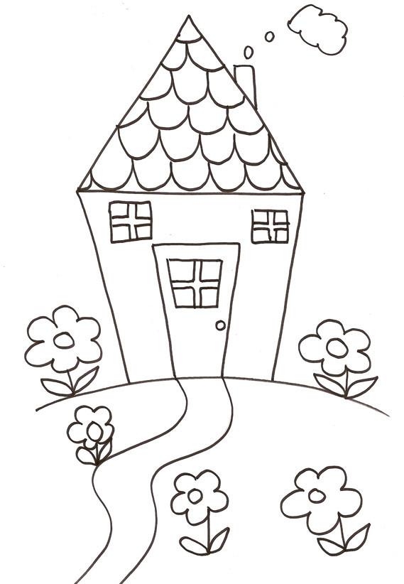 Coloriage Maison Avec Jardin Dessin Gratuit A Imprimer