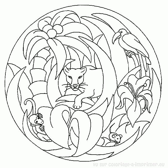 Dessin Mandala Animaux Facile Coloriage Mandala Animaux Sur